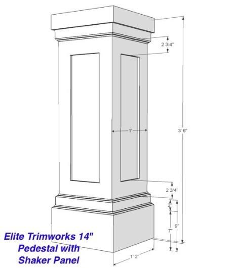 Craftsman Column Drawings I Elite Trimworks