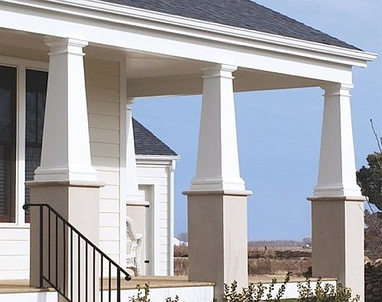 Tapered craftsman columns i elite trimworks for Craftsman columns