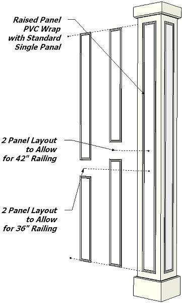 Non Tapered Pvc Column Drawings I Elite Trimworks