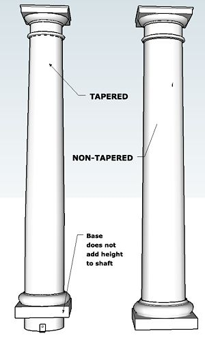 Round no tapered permacast i elite trimworks for Permacast columns