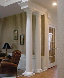 interior columns - decorative wood columns i elite trimworks