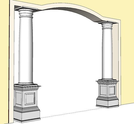 Pedestals shake or raised panel interior pedestals i for Decorative support columns