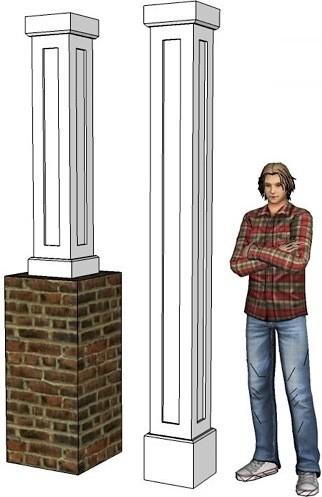 Shaker Pvc Columns Covers Or Column Wraps I Elite Trimworks