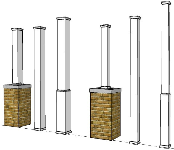 Pvc Porch Post Wraps Exterior Column Amp Pole Covers I