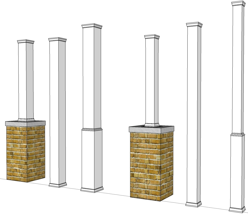 PVC Porch Post Wraps Exterior Column Pole Covers I Elite Trimworks