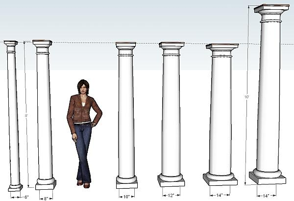 Installing columns i elite trimworks for Where to buy columns for house