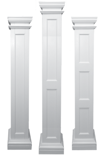 Square Recessed Paneled Load Bearing Fiberglass Columns