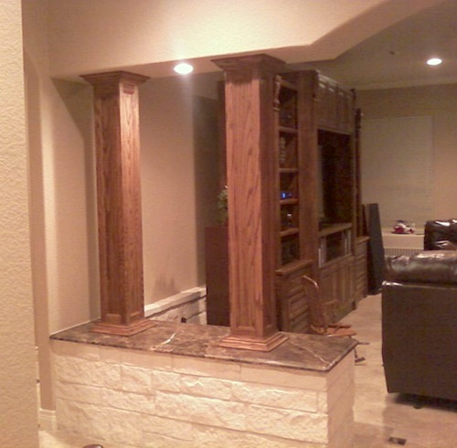 Square Column Trim : Square wood column gallery i elite trimworks