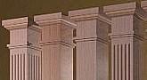 Interior columns decorative wood columns i elite trimworks for Decorative square columns