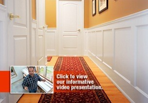 raised panel wainscoting youtube with How To Install Wainscoting on Wainscoting Panels besides Half Wall With Column also How To Install Wainscoting together with Wainscot as well Stair Trim Molding Ideas.