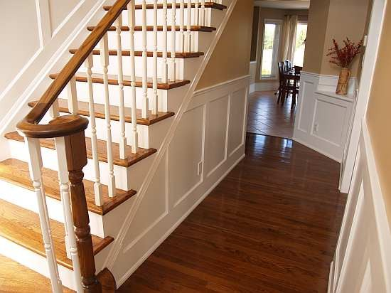 Recessed Paneled Wainscot Stair Application I Elite Trimworks