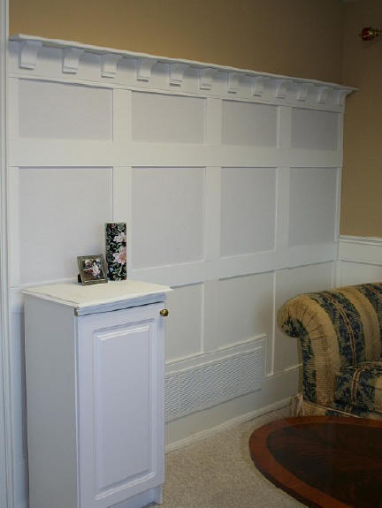 Three Tier Flat Paneled Wainscoting I Elite Trimworks