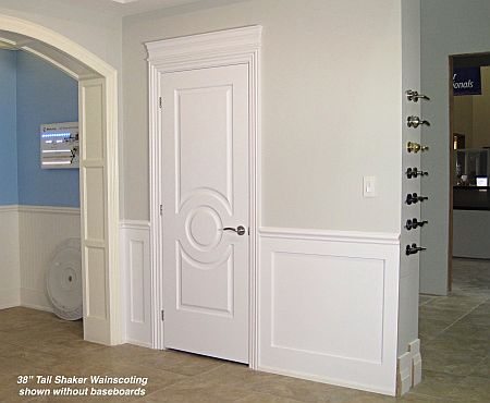 Shaker Wainscoting Kits Without Panels What could be Simpler? : wainscoting door - pezcame.com