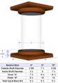 "10"" Tapered Round Wood Column"
