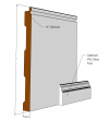 Beadboard Wainscot Lower Rail MDF