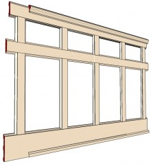 "Recessed, Wall Paneled Wainscot Kit, Two Tier 50"" High"
