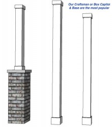 "6"" Square HB&G Fiberglass Non Tapered Column"