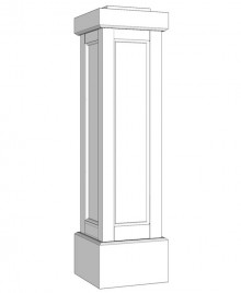 PVC Recessed Panel Newel Post