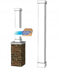 "6"" x 6"" Smooth, Non-Tapered PVC Column"