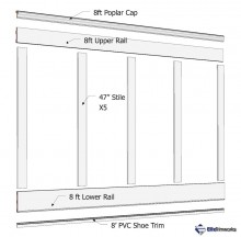 "Board & Batten Wainscot Kit, 60"" High"