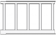 "Recessed, Wall Paneled Wainscot Kit, 58"" High"