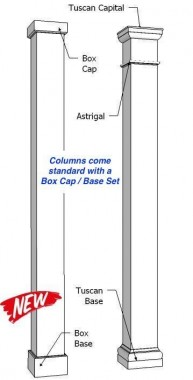 "8"" Smooth Square Fiberglass Column"