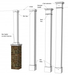 "12"" x 12"" Smooth, Non-Tapered PVC Column"