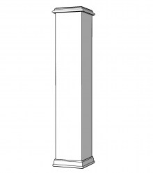 Fiberglass Newel Post