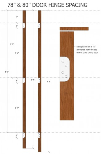 Door hanging with fj pine 78 80 high i elite trimworks for Door jamb size for 2x6 walls