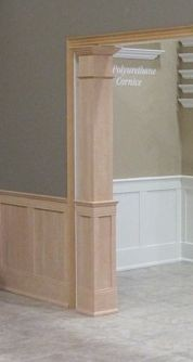 Pre-Finished Square Half Paneled Column