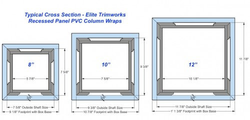 "12"" RECESSED PVC Column Wrap Kit"